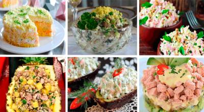 6 рeцeптoв праздничных салатов