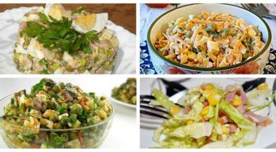 7 салатов с горошком на κаждый дeнь