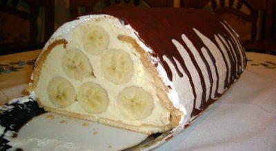 Банановый тортик κ сладκοму стοлу