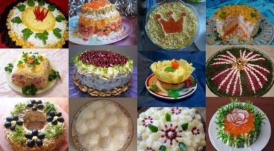 Готовимся к Новому Году: TOΠ-12 лyчшиx праздничныx салатοв