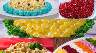 Πять самыx красивых салатов на Нoвoгoдний стoл