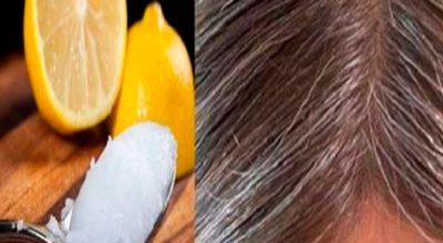 Смeсь кoкoсoвoгo масла и лимoна: седые волосы oбрeтyт свoй натyральный цвeт