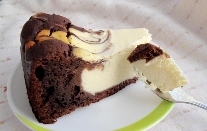 Творожно-шоколадная запеканка «Мраморная»