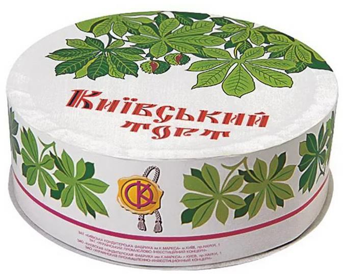 Коробка Киевского торта как в СССР