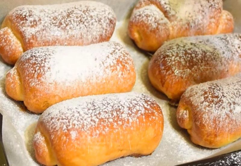Мягкие и вкусные венские булочки с повидлом