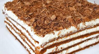 Нежный тортик без муки