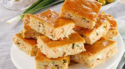 Оригинальный рыбный пирог: начинка добавляется прямо в тесто