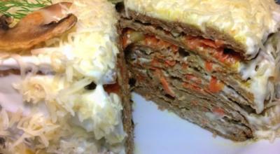 Печеночный торт из свиной печени — 6 рецептов как вкусно приготовить сытный торт