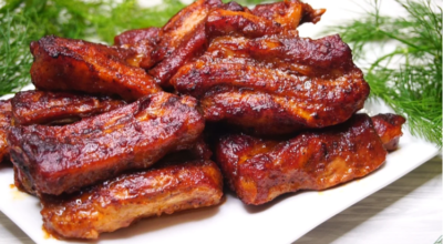 Рецепт вкусных свиных ребрышек по-канадски