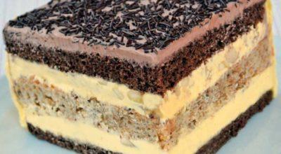 Торт «Огни Парижа» с чрезвычайно нежным заварным кремом