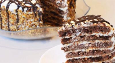 Вкусная выпечка без духовки: Нежный торт на сковороде