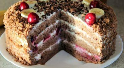Вкуснейший домашний торт на сгущенке