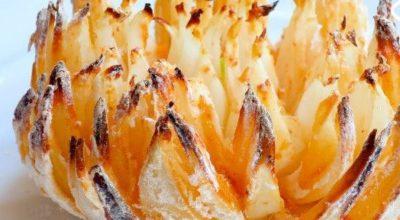 «Хризантема» в духовке — вкусная хрустящая закуска