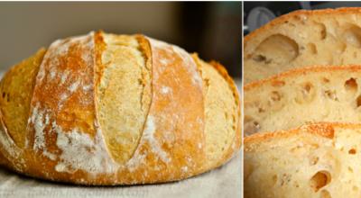 Домашний хлеб без замеса: рецепт прост как раз, два, три