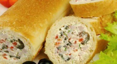 Фаршированный багет с колбасой и сыром: одна из самых привлекательных закусок