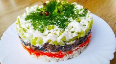 Идеальное сочетание: салат не требующий пропитки. Без майонеза