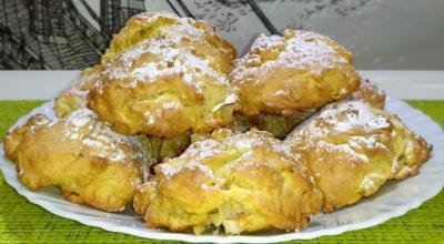 Итальянское мягкое печенье с яблоками и грецкими орехами