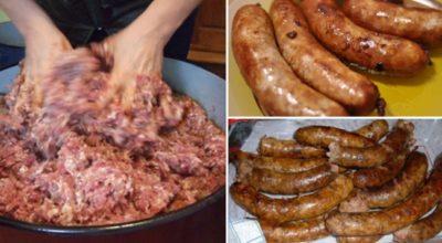 Лучший традиционный рецепт домашней колбасы