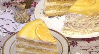 Мягкий, нежный, сочный «Лимонный» торт