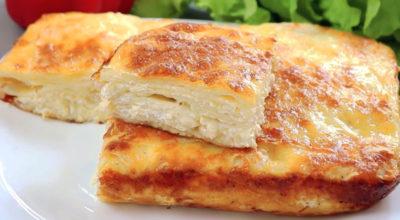 Пирог из лаваша с сыром на быструю руку