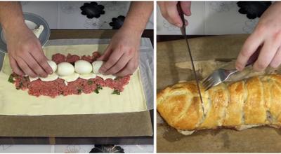 Рецепт изумительного мясного пирога
