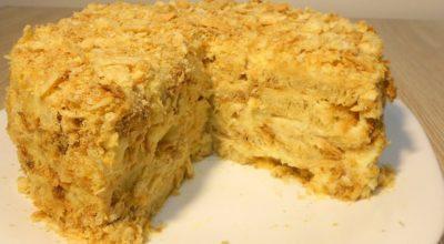 Торт Наполеон без выпечки. Самый ленивый рецепт