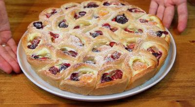 Ягодное лукошко, – пирог, который можно разобрать на отдельные пирожки