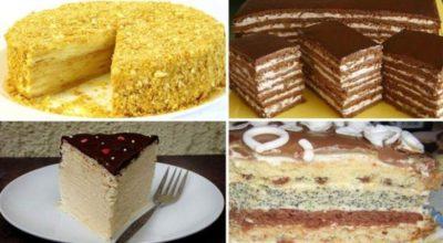 5 рецептов вкусных домашних тортов