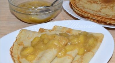 Банановые блинчики с банановым соусом