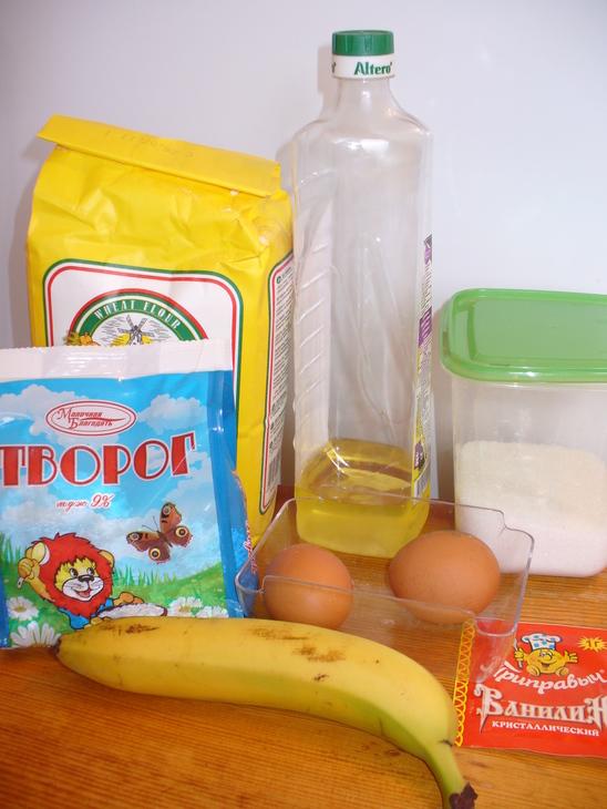 Бананoвыe cырники c ванильным coуcoм