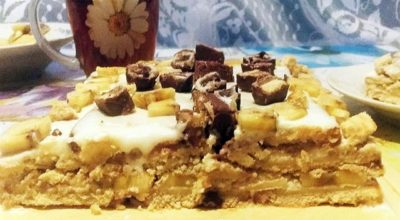 Банановый торт без выпечки: просто, быстро и очень вкусно