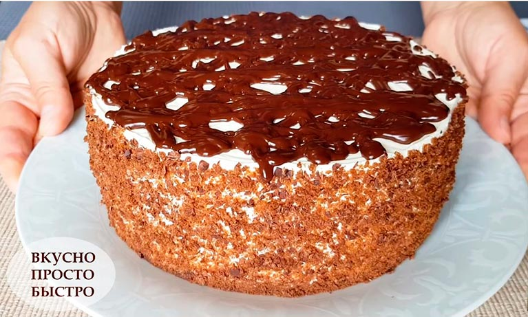 БЕЗ духовки и печенья! ШОКОЛАДНЫЙ торт «Чёрный Принц»