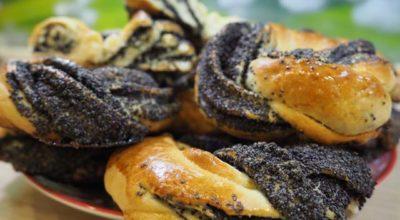 Булочки с маком на кефире в духовке — рецепты приготовления