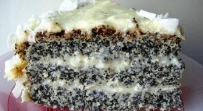 Маково-кокосовый пирог «Блаженство». Для любителей выпечки с маком