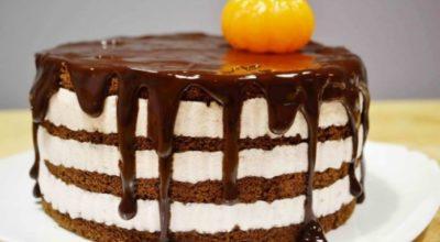 Очень вкусный шоколадный торт с йогуртовым кремом