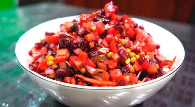 Салат винегрет (без варки овощей)