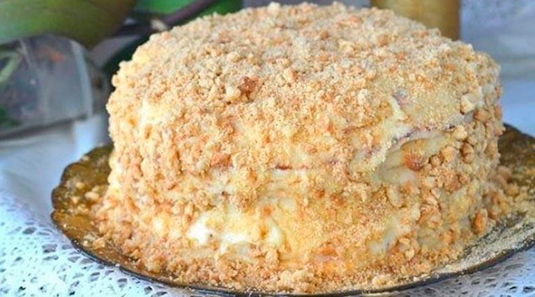 Торт «НАПОЛЕОН» на сковородке: мой ЛЮБИМЫЙ рецепт