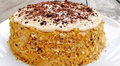 Торт с ЧЕРНОСЛИВОМ на СКОВОРОДЕ: нежный, сочный и очень вкусный