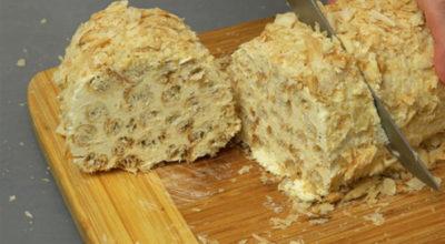 Торт «Слоеное полено»: Вкусно и очень оригинально