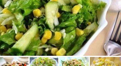 5 рецептов овощных диетических салатиков
