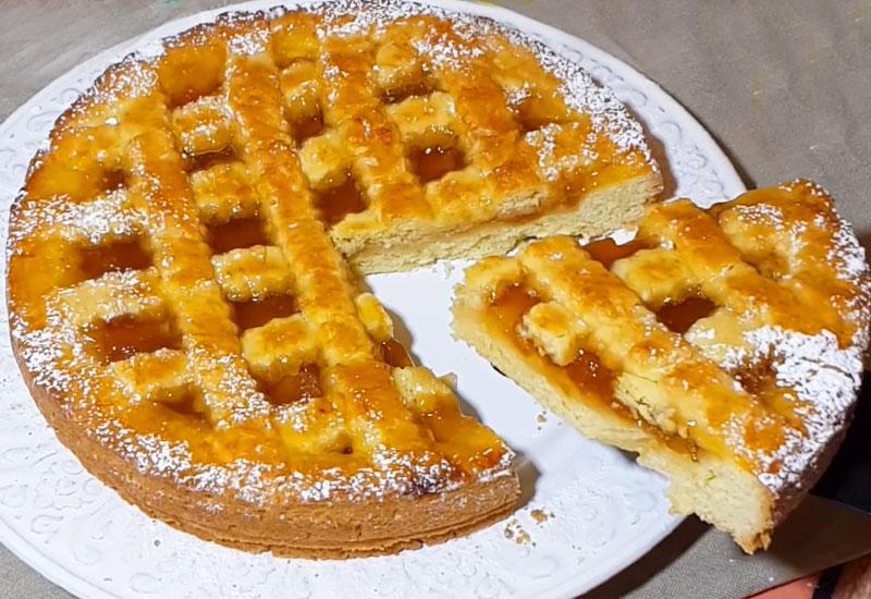Пирог с вареньем Песочное рассыпчатое тесто