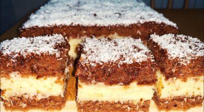 Дешевый, шоколадный торт – пирог с кремом. Быстрый и простой рецепт