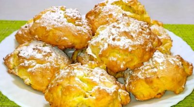 Итальянское печенье с яблоками и орехами