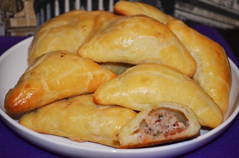 Конвертики с мясом из творожного теста., изображение №6