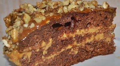 Очень легкий и вкусный торт