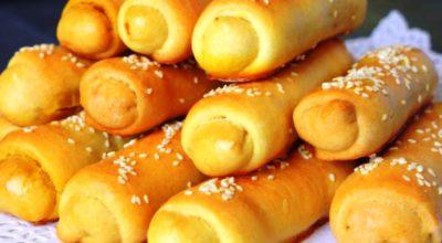 Пирожки – трубочки с капустной начинкой