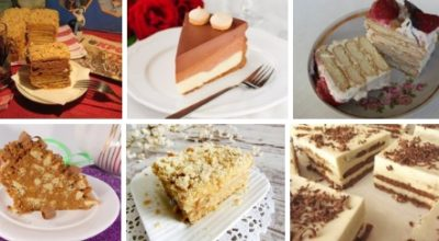 Подборка из 10-ти рецептов тортов из печенья
