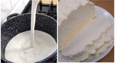 Самые простые продукты и получается очень вкусный сыр
