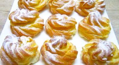 Воздушные пирожные с нежным и ароматным кремом