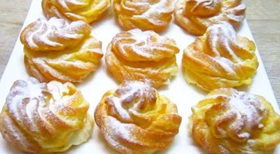 Воздушные пирожные с нежным кремом